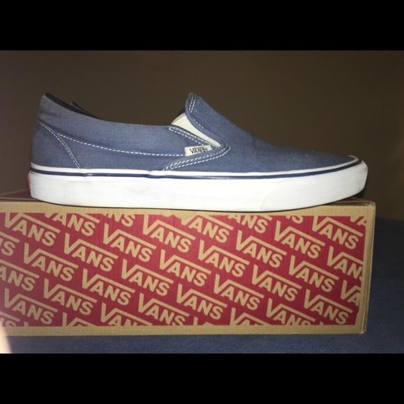 Vans Shoes   Navy Vans Slipons Size 5
